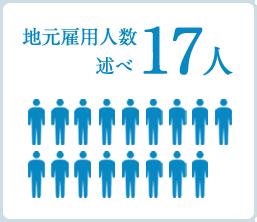 地元雇用人数述べ17人
